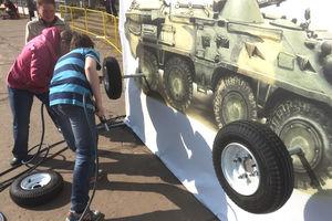 Военные аттракционы на День Победы